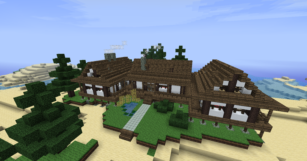 japanese themed beach house minecraft by niegelvonwolf