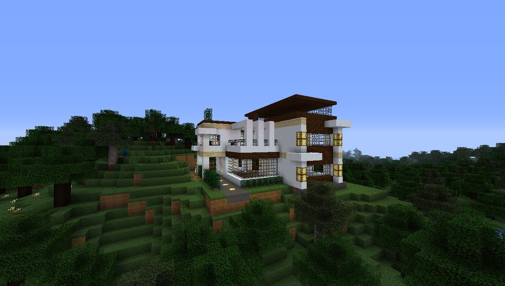Hilltop Retreat Modern Home Minecraft By Niegelvonwolf