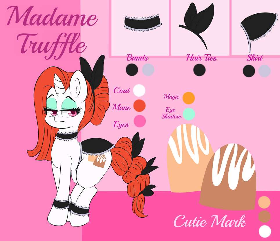 Commission: Madame Truffle Reference Sheet by WickedSilly