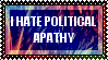 Political Apathy Stamp by TecuciztecatlOcelotl