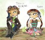 Quick Psychonauts doodle: Lili and Raz
