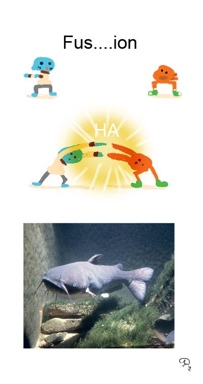 Fusion Ha (Gumball and Darwin) by JohnWRoberts