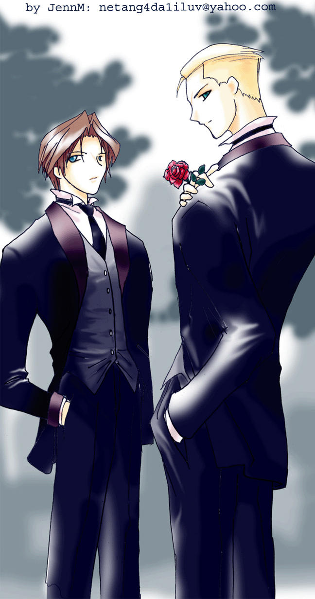 Seifer and Squall in tux by netang4da1iluv