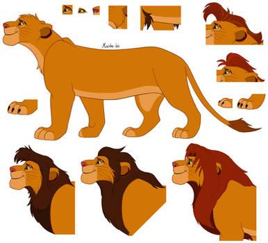 TLK Lineart 3: Male Lion