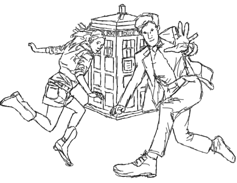 Line Drawing Of A Doctor : Doctor who lineart by ypt love me dead on deviantart