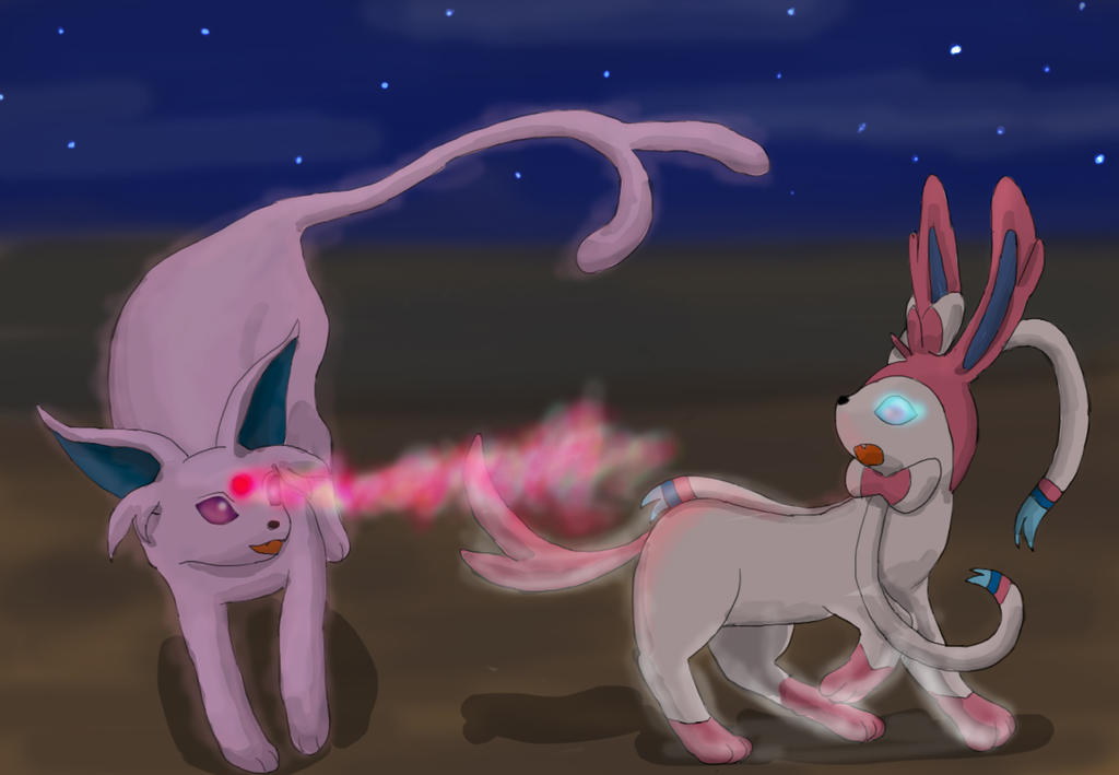 Espeon vs Sylveon by SilverMamepato on DeviantArt