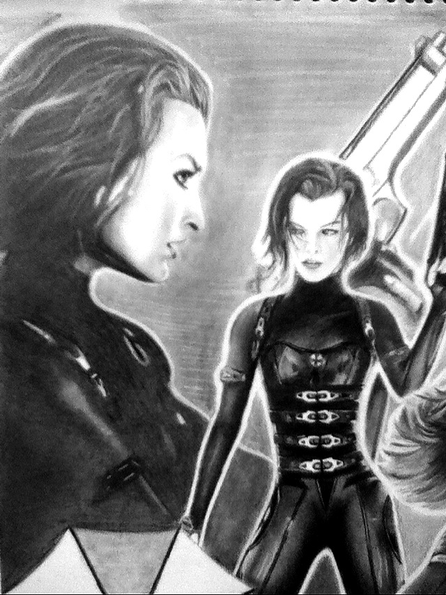 Resident Evil Retribution Alice Close Up By Moemanreese On