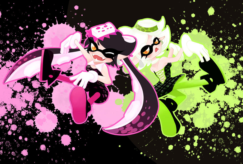 Callie And Marie Wallpaper: Callie And Marie By Yuki-chan001 On DeviantArt