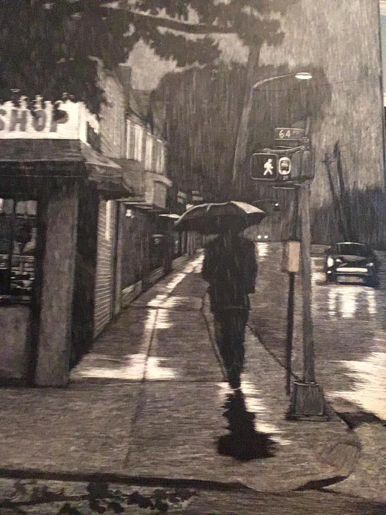 My Street in the rain. by jiesi