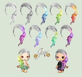 .:Gr4yScale:. (C2U Hair Pack) by Jinx-ix