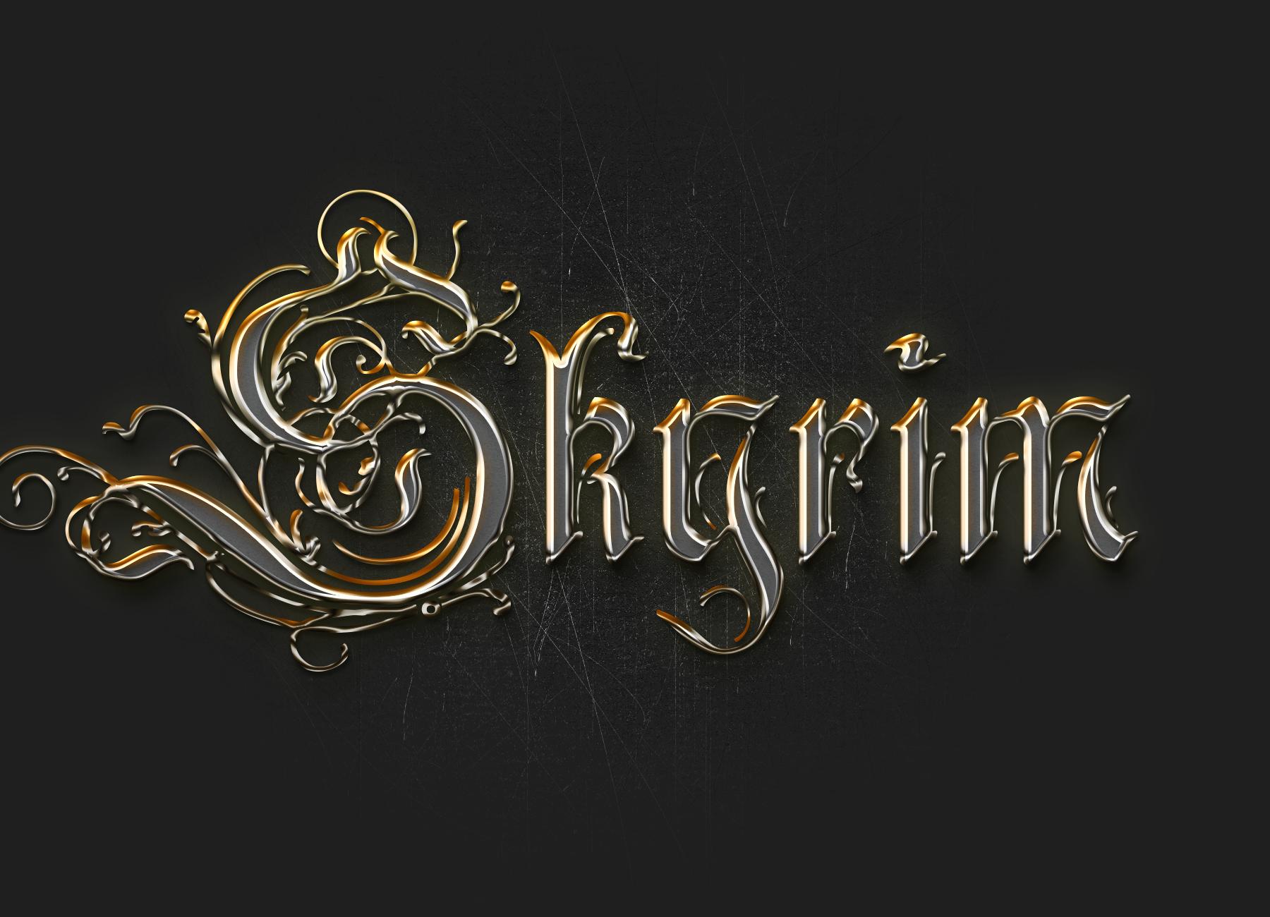 Metal Font Skyrim By Replayyalper On Deviantart