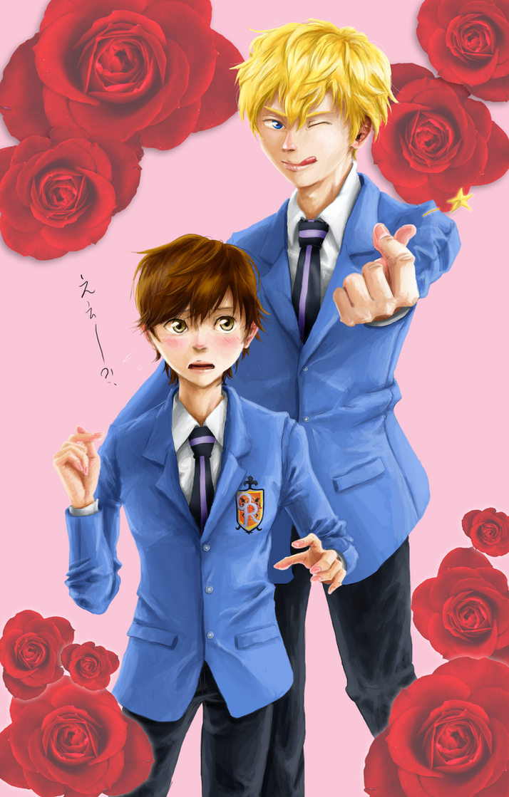 Ouran High School Host Club - lovelove pose by Tanbakudan