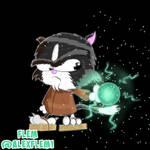 The Jedi Cartoon Cat by FleM-Cartoons