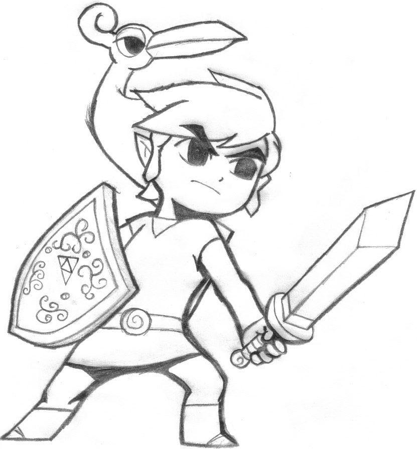minish cap coloring pages - photo#3