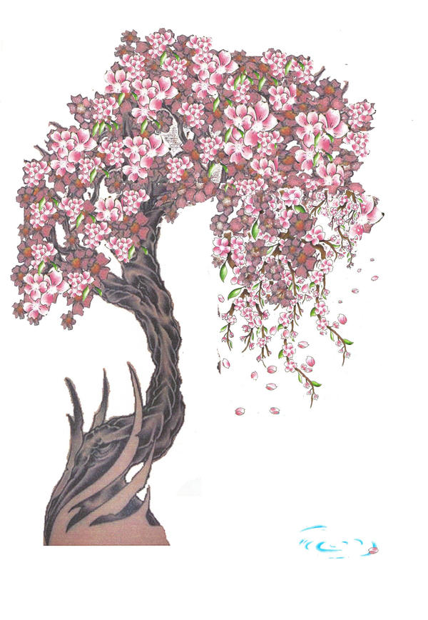 Blossom Tree Drawing: Radom Cherry Blossom By Isleotto On DeviantArt
