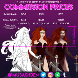 Commission Prices 2019