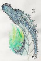 random ice dragon by no-life94