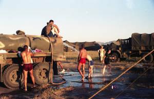 Field shower by DocMallard