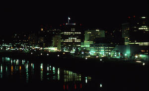 Portland at night by DocMallard