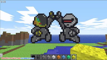 Daft Punk invades Minecraft