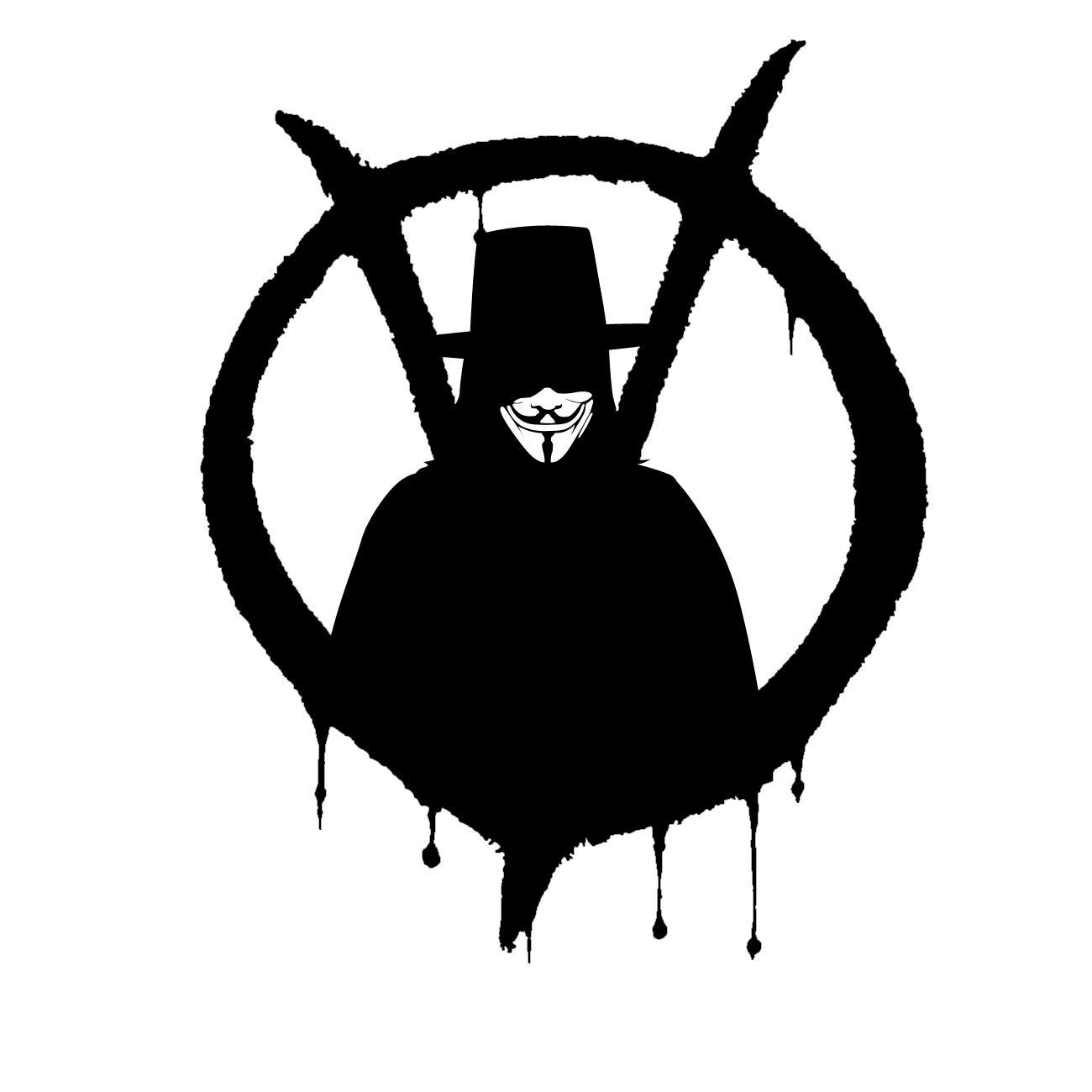 V for Vendetta Stencil Cut 1  V For Vendetta Stencil