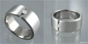 Mock Tension Titanium Ring