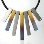 Baked Steel, Diamond Necklace