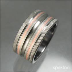 Titanium Copper Wedding Ring by Spexton