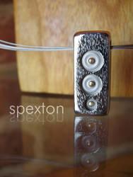 Gold Bradded Pendant by Spexton