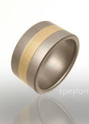 Fused Gold Titanium Ring by Spexton