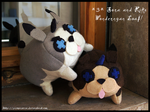 Sora and Riku Wondernyan Loaf plushes! by Martiverse
