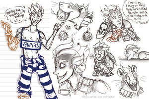 Junkrat sketches by Martiverse