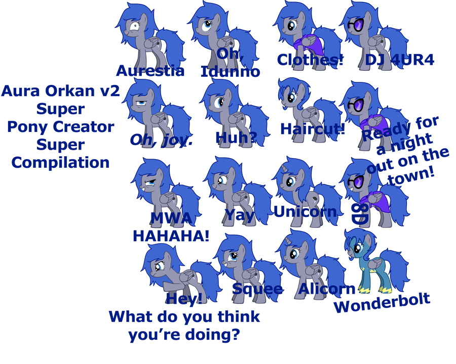 Aura Orkan v2 Pony Creator Super Compilation by ...