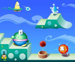 Video game screen by ValliantEffort