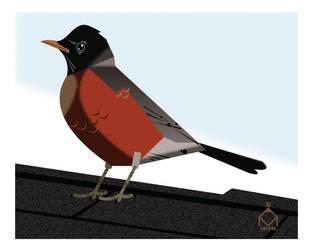 Red bird by ValliantEffort