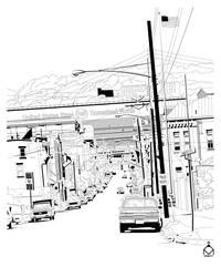 Street Scene by ValliantEffort