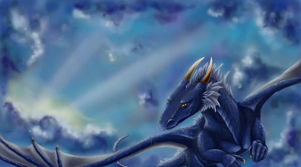 Flying Blue Dragon — Dishmaps