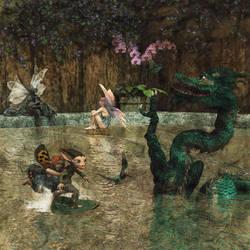 Fairies in a Hot Tub. by flashback37