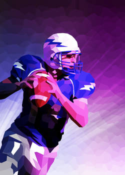 american football low poly