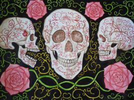 Baroque Skulls and Roses