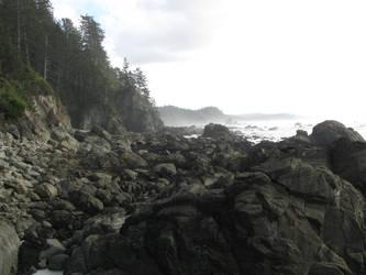 A Rocky Coast by jimmythehorn