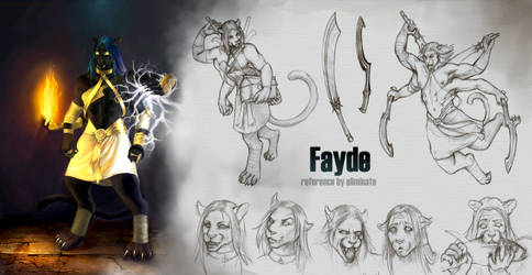 Fire and Lightning Ref by fayde