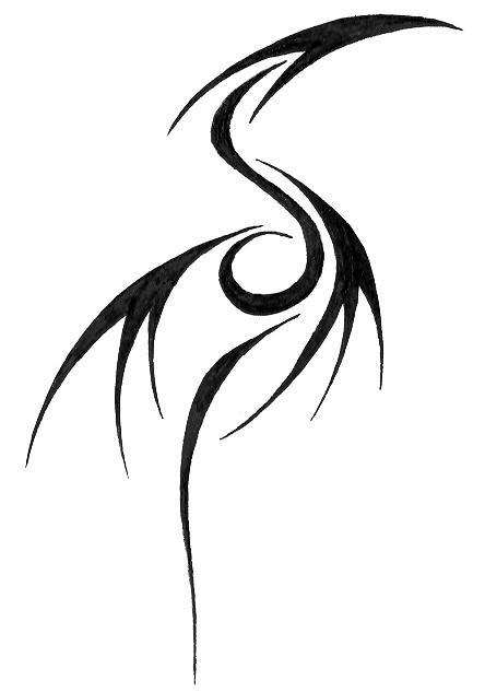 Tribal Dragon Tattoo Glyph by fayde