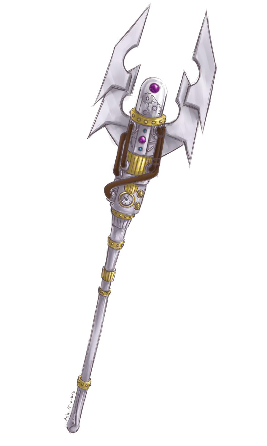 Aria : Litany's Mace 003 by ShiSherry