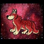 Red Galaxy Doggo Aesthic Adopt (closed) SB 1