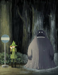 my neighbour the groke - Snufkin and My version by Sildesalaten