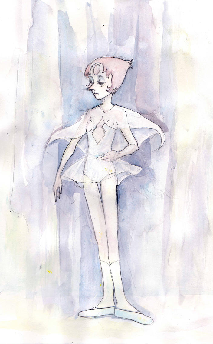 I was having an art meetup with a couple of friends and we did some arttrades - in which we all drew Pearl from Steven Universe. requested Homeworld Pearl.  Pearl is my favourite character in ...