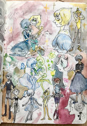 Pearls sketchpage by Sildesalaten