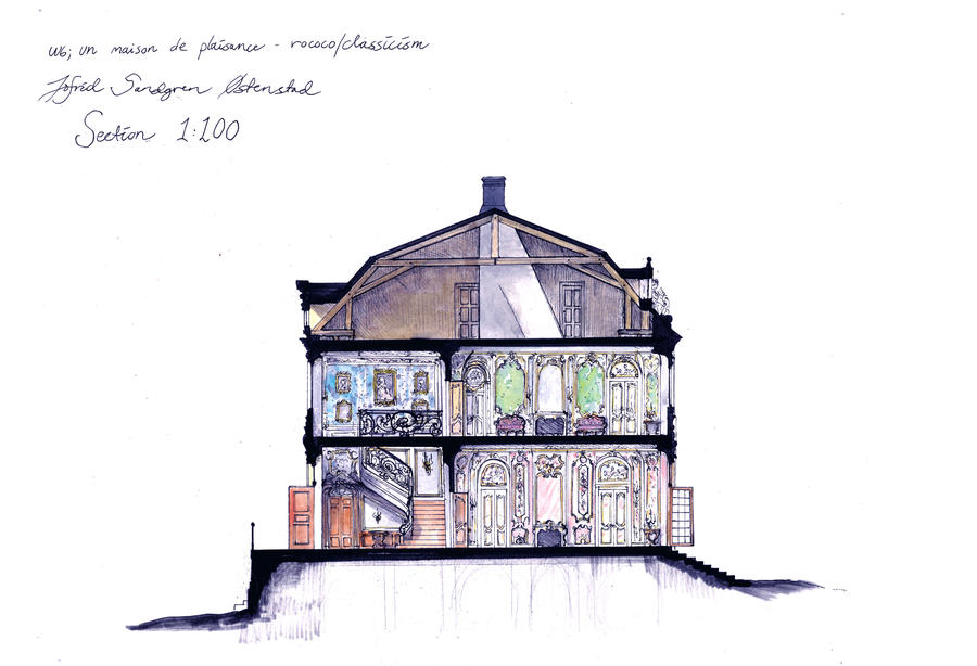 Section of 18th century house by Sildesalaten