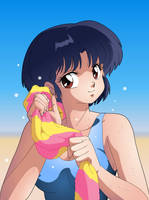 Akane at the Beach by SystemZ3RO
